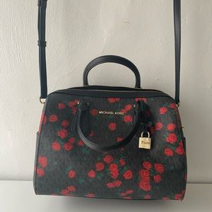 Michael Kors Floral Hayes Large Duffle
